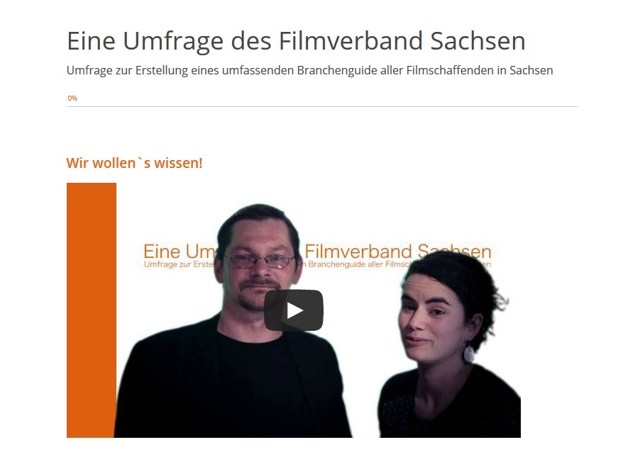 Umfrage Filmverband Sachsen